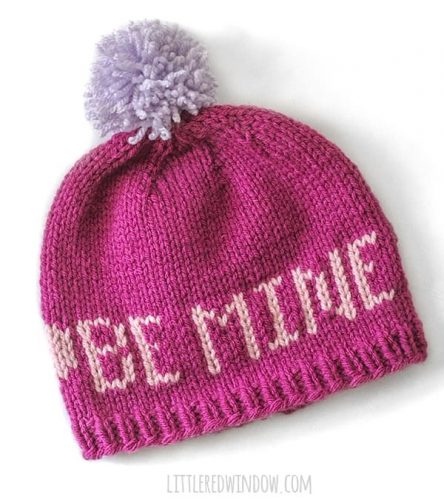 Valentine Love Notes Hats Knitting Pattern - Valentine's DIY and Crafts
