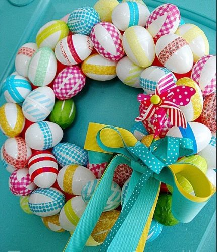 Washi Tape Spring Egg Wreath