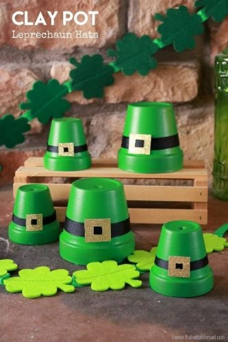 Clay Pot Leprechaun Hats - St. Patrick's Day DIY