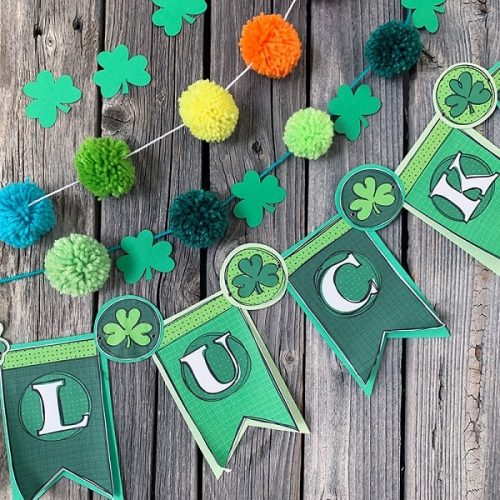 DIY Pom Pom Garland for Saint Patrick's Day