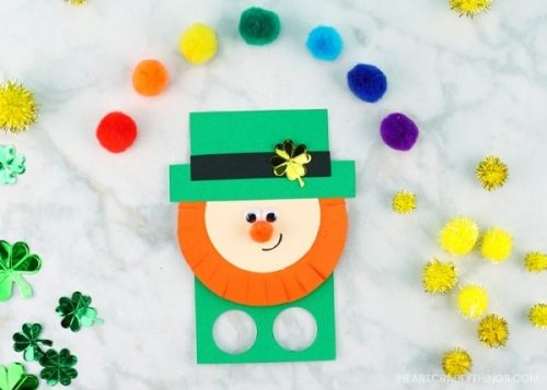 Leprechaun Finger Puppets - St. Patrick's Day Crafts for Kids