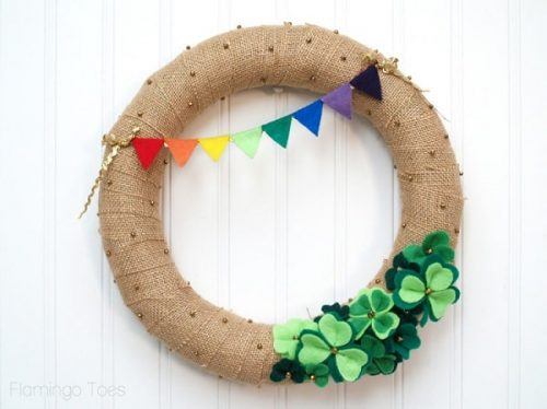 Lucky Shamrocks St. Patrick's Day Wreath