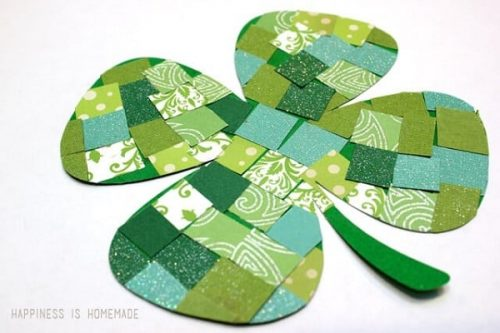 Mosaic Paper Shamrocks