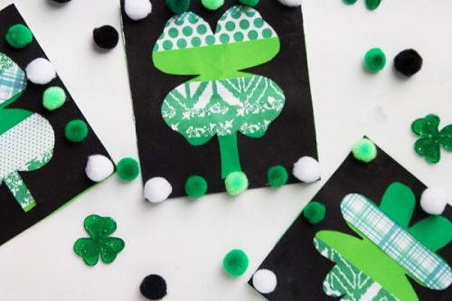 Paper Strip Clovers - Clover Kids Craft