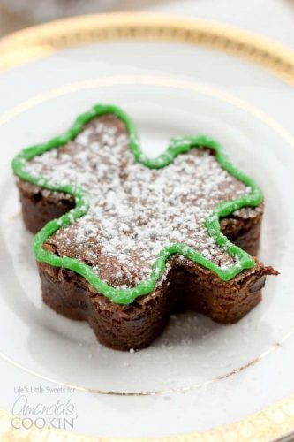 Shamrock Shaped Brownies for Dessert