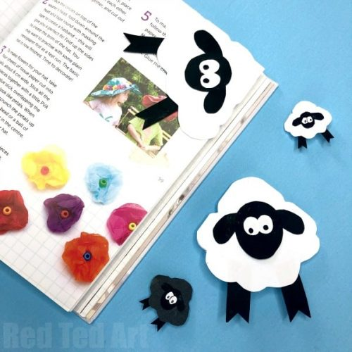 Sheep Corner Bookmark - Fun and Easy Easter Crafts
