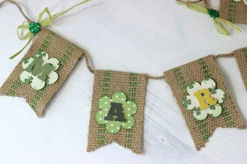 St. Patrick's Day Burlap Banner