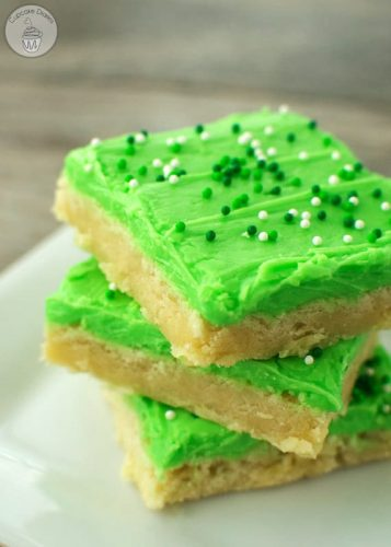 St. Patrick's Day Sugar Cookie Bars