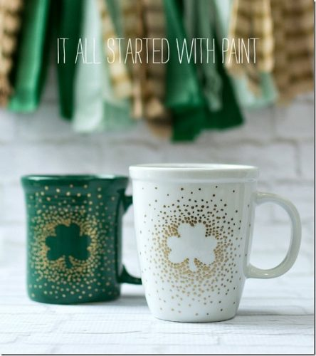 St. Patrick's Day Decor Ideas - Irish Coffee Mugs