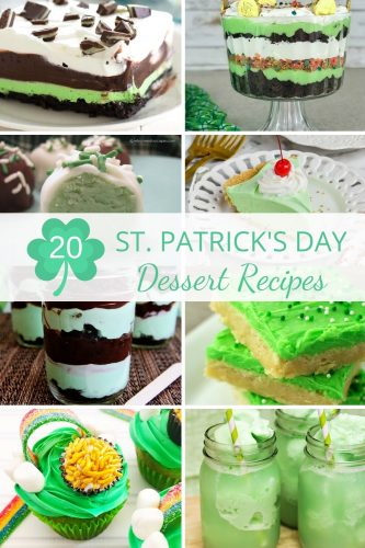 St. Patrick's Day Dessert Recipes - Easy St. Patrick's Day Desserts That Celebrate the Luck of the Irish including St. Patrick's Day Cupcakes, Shamrock Pie and Irish Mint Dessert Recipes