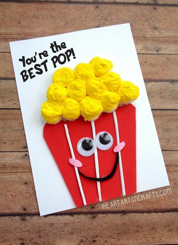 """You're The Best Pop"" Popcorn Card"