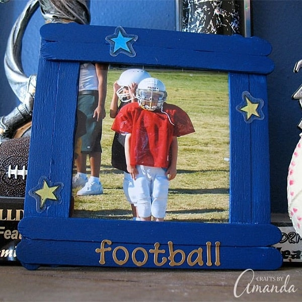 Craft Stick Photo Frame - Homemade Father's Day Gifts