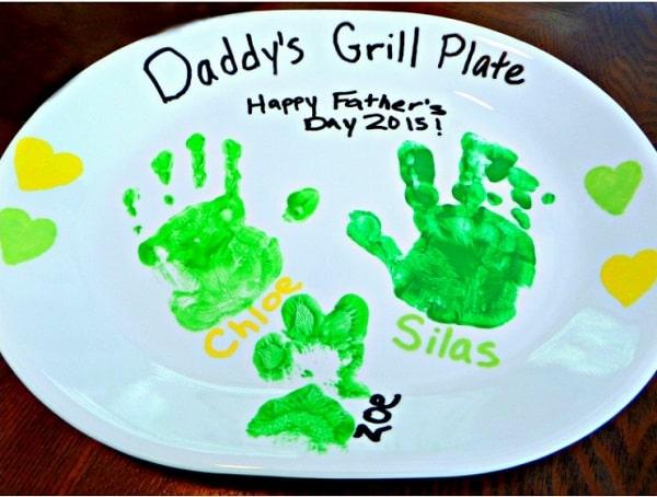Father's Day Handprint Platter