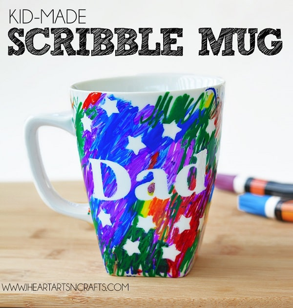 Father's Day Scribble Mug - Homemade Father's Day Gift Ideas