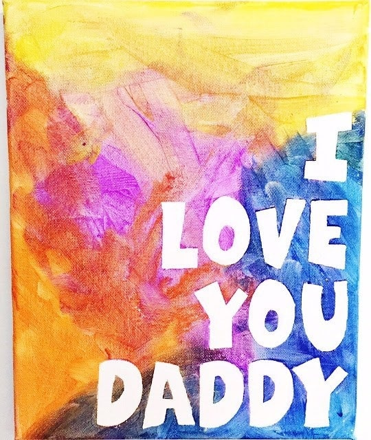 Finger Paint Craft for Kids - Father's Day Crafts for Kids