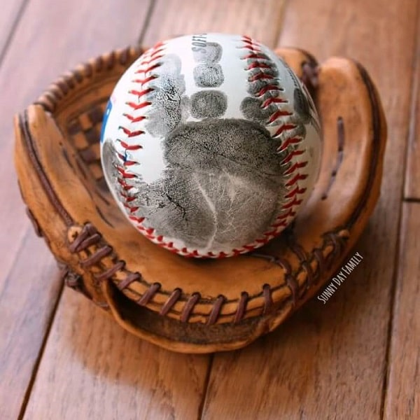 Handprint Baseball Father's Day Gift