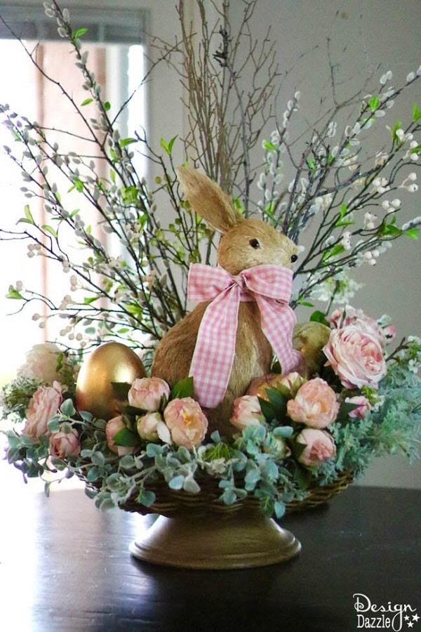 Spring Easter Tablescape - DIY Easter Tablescape