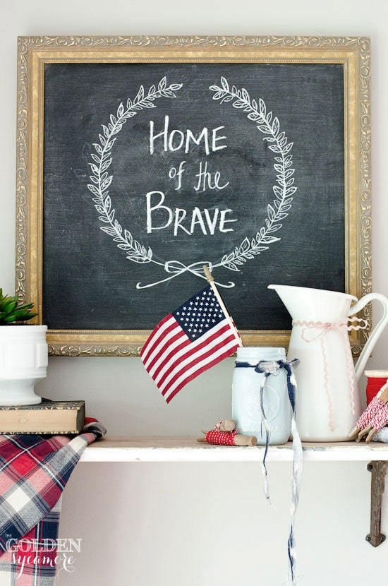 4th of July Decor Rustic