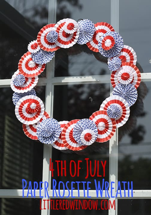 4th of July Paper Rosette Wreath