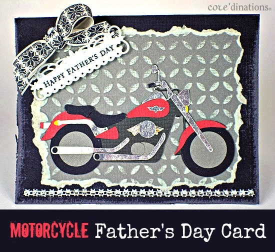DIY Father's Day Card with Motorcycle