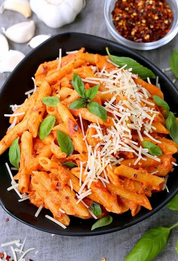Easiest Penne Vodka Ever - Vegetarian Pasta Recipes