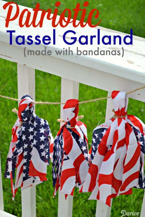 Easy Patriotic DIY Tassel Garland