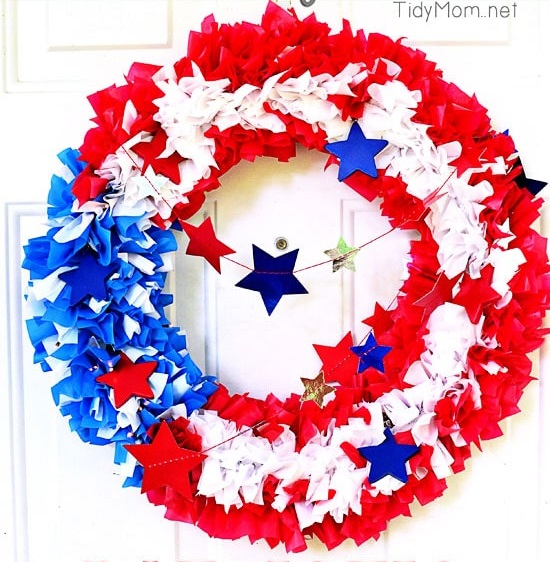 Easy Patriotic Flag Wreath