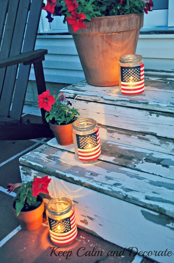 Easy Patriotic Luminaries