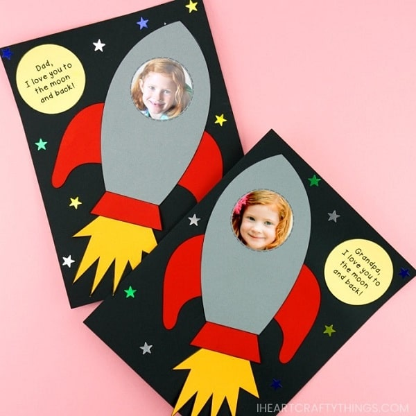 Easy Rocket Ship Father's Day Craft Idea - Simple Father's Day Craft for Preschoolers