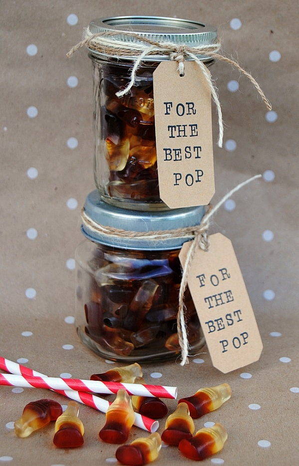 For the Best Pop Mason Jar Father's Day Gift