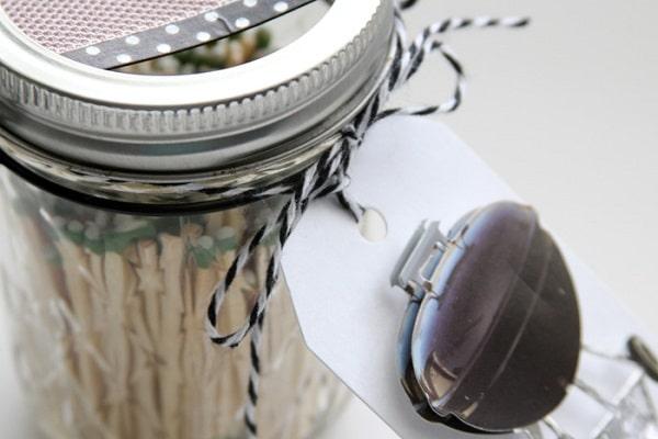 Grill Match Jar Dispenser DIY Gift for Dad