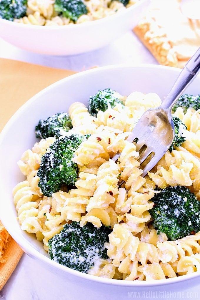 Lemon Ricotta Pasta with Broccoli - Summer Pasta Recipes