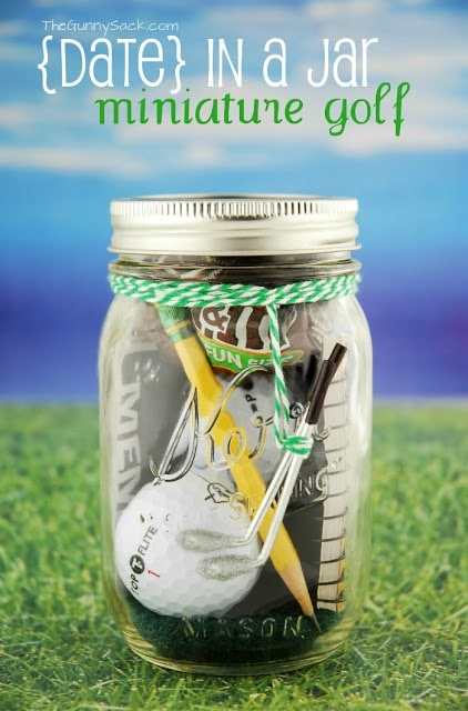 Mini Golf Mason Jar Gift for Father's Day
