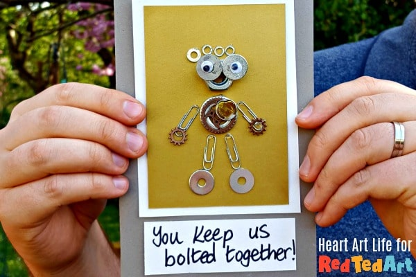 Nuts & Bolts Father's Day Card for the DIY Dad