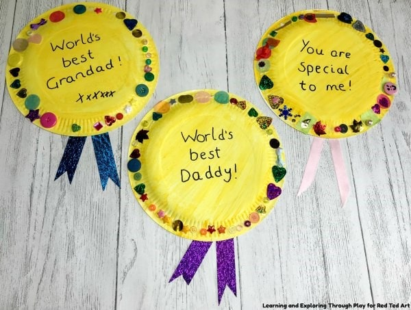 Paper Plate Medal for Father's Day