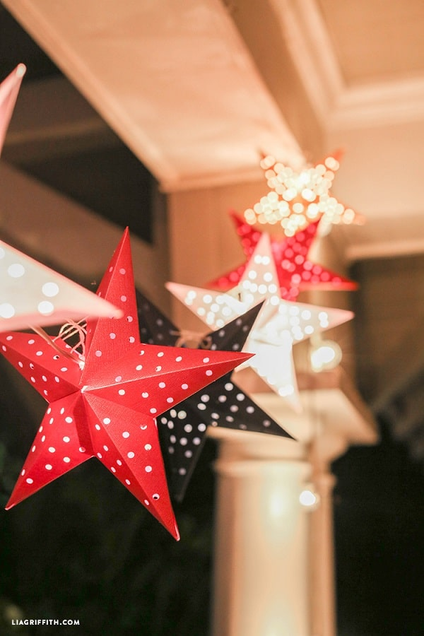 Paper Star Lights Garland