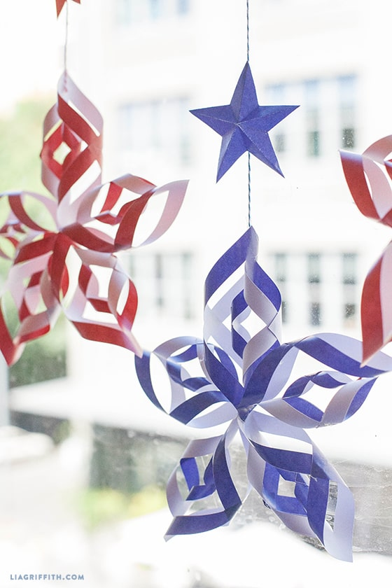Paper Stars For Fourth of July Decor