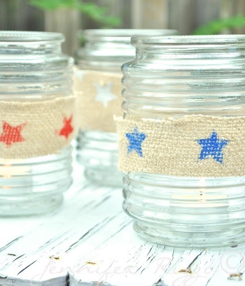 Patriotic Tea Light Holders