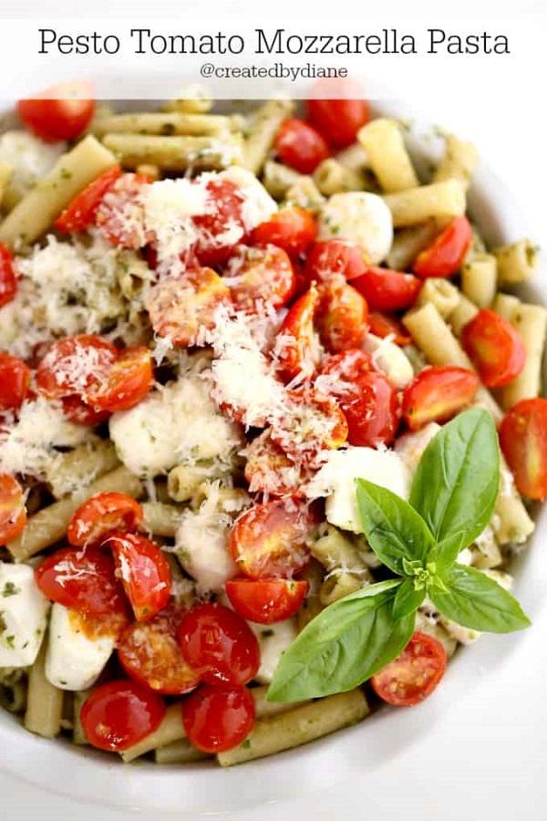Pesto Tomato Mozzarella Pasta
