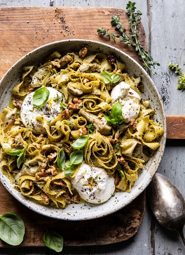 Roasted Lemon Artichoke and Browned Butter Pasta