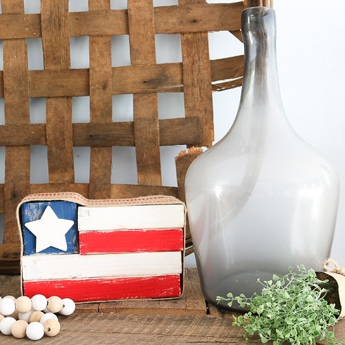 Rustic Wood Flag
