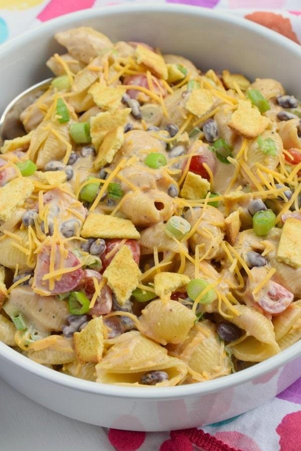 Southwest Pasta Salad - Vegetarian pasta recipes