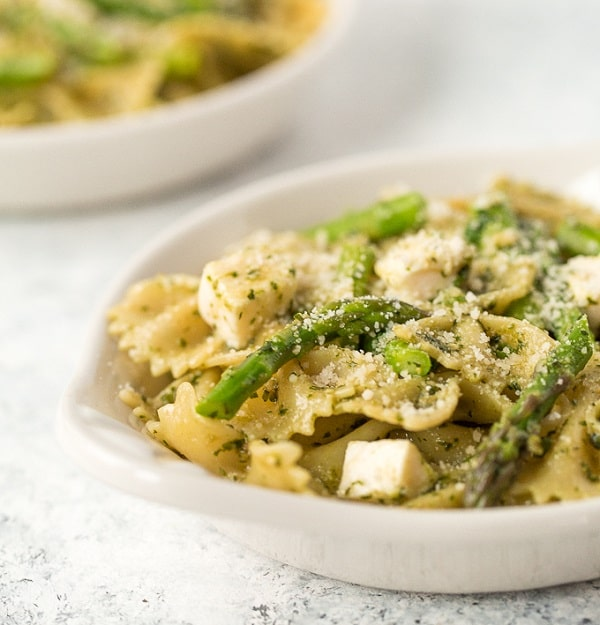 Spring Pesto Pasta with Asparagus and Chives