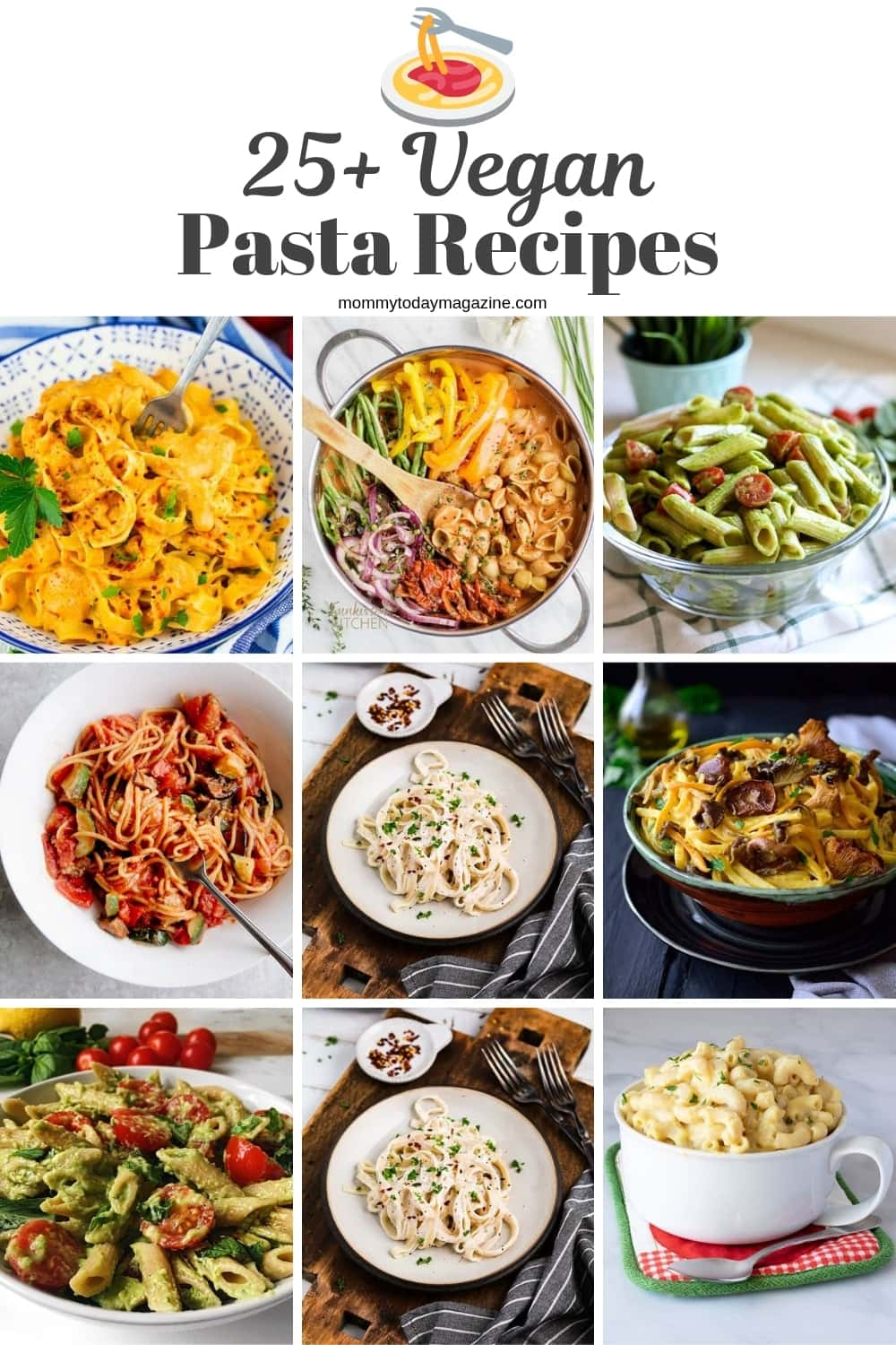 Top 25 Best Vegan Pasta Recipes - Meat and Dairy Free Pasta Recipes