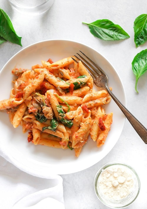 Vegan Sundried Tomato Basil Pasta