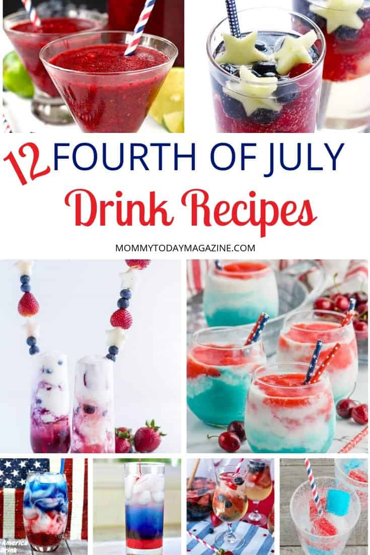 Easy 4th of July Drink Recipes - Fabulous 4th of July Drinks Alcoholic or Non-Alcoholic, For Kids, Vodka, Layered and More!